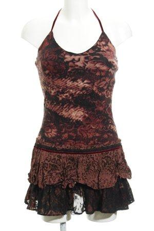 MNG Vestido de cuello Halter estampado abstracto estilo medieval