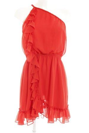 MNG One-Shoulder-Kleid rot Elegant