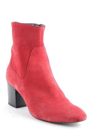 MNG Reißverschluss-Stiefeletten rot Elegant