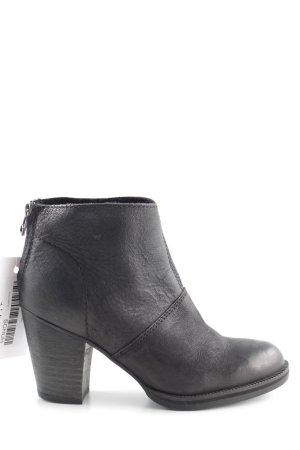 MNG Reißverschluss-Stiefeletten schwarz Casual-Look