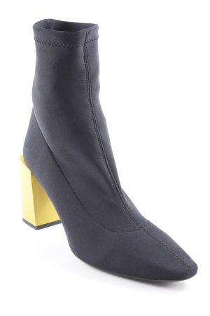 MNG Schlüpfschuhe schwarz-gelb schlichter Stil