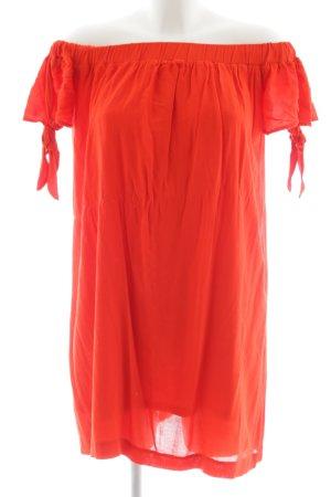 MNG schulterfreies Kleid rot Casual-Look