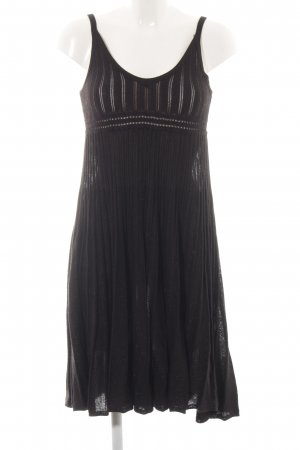MNG SUIT A-Linien Kleid schwarz Zopfmuster Party-Look