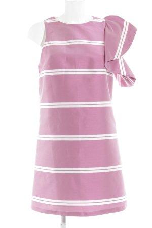 MNG SUIT A-Linien Kleid rosa-weiß Ringelmuster