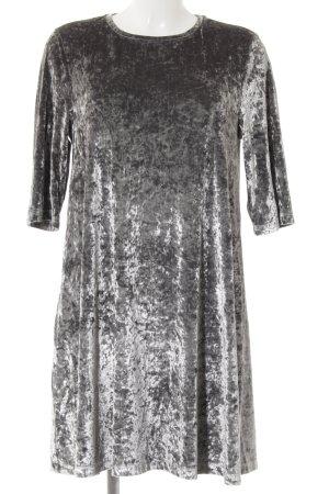 MNG SUIT A-Linien Kleid silberfarben Glanz-Optik