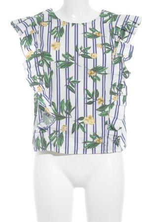 MNG SUIT ärmellose Bluse Blumenmuster minimalistischer Stil