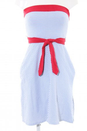 MNG SUIT Bandeau Dress blue-red striped pattern casual look