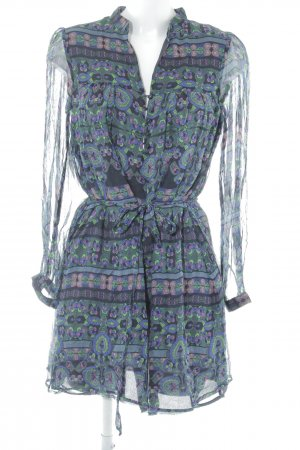 MNG SUIT Blusenkleid abstraktes Muster Beach-Look
