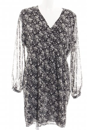 MNG SUIT Blusenkleid schwarz-weiß Allover-Druck Casual-Look