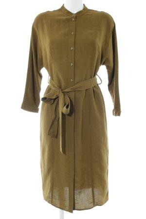 MNG SUIT Hemdblusenkleid bronzefarben Business-Look