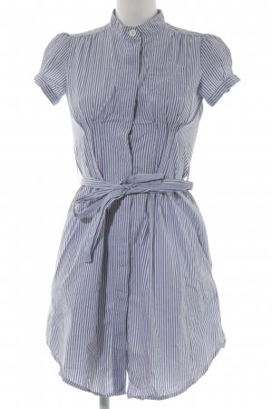 MNG SUIT Abito blusa camicia bianco-blu fiordaliso motivo a righe stile casual