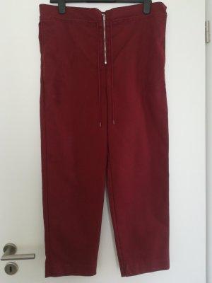 MNG SUIT Pantalone a vita alta carminio