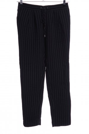 MNG SUIT Peg Top Trousers black-light grey striped pattern business style