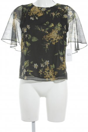 MNG SUIT Kurzarm-Bluse florales Muster Casual-Look