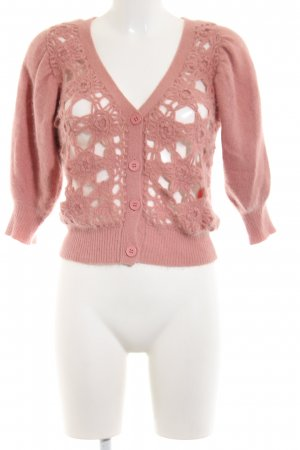 MNG SUIT Short Sleeve Knitted Jacket pink casual look