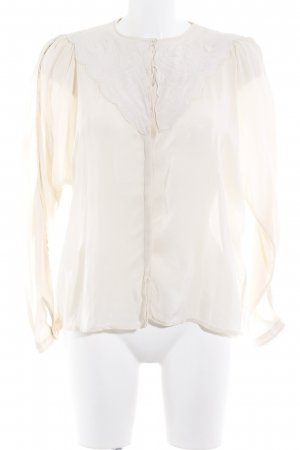 MNG SUIT Langarm-Bluse nude abstraktes Muster Casual-Look