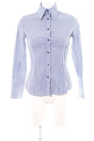 MNG SUIT Langarmhemd blau-weiß Streifenmuster Business-Look