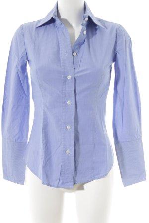 MNG SUIT Langarmhemd blau-weiß Nadelstreifen Elegant