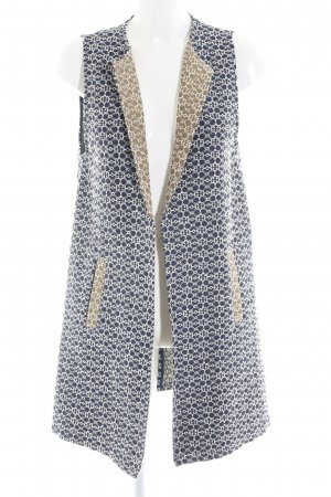MNG SUIT Long Knitted Vest abstract pattern casual look