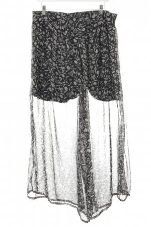 MNG SUIT Marlene Trousers black-light grey flower pattern casual look