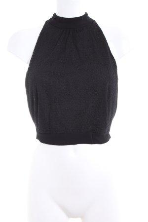 MNG SUIT Top senza maniche nero stile casual