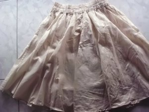 Flared Skirt gold-colored-oatmeal cotton