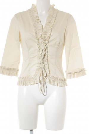 MNG SUIT Rüschen-Bluse creme extravaganter Stil