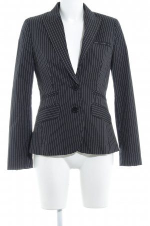 MNG SUIT Smoking-Blazer schwarz-weiß Nadelstreifen Business-Look