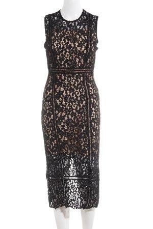 MNG SUIT Spitzenkleid schwarz-nude florales Muster Casual-Look