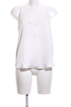 MNG SUIT Top de encaje blanco elegante