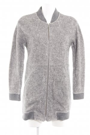 MNG SUIT Knitted Coat light grey flecked casual look