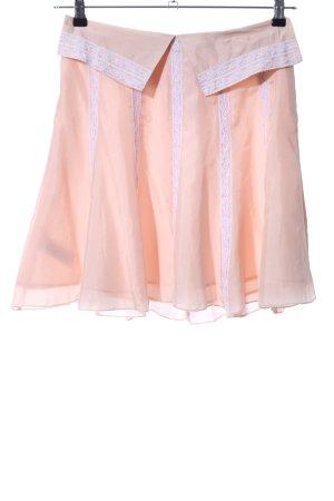MNG SUIT Jupe corolle rose chair-blanc élégant