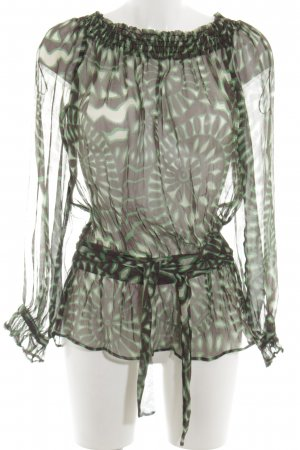 MNG SUIT Transparenz-Bluse abstraktes Muster Casual-Look