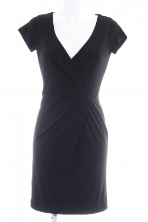 MNG SUIT Vestido cruzado negro elegante