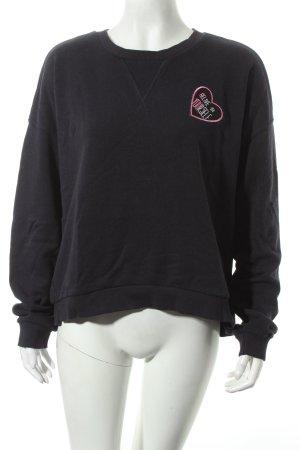 MNG Sweatshirt dunkelblau Street-Fashion-Look