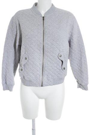 MNG Suéter gris claro estampado acolchado look casual
