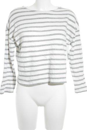 MNG Felpa bianco-grigio chiaro motivo a righe stile casual