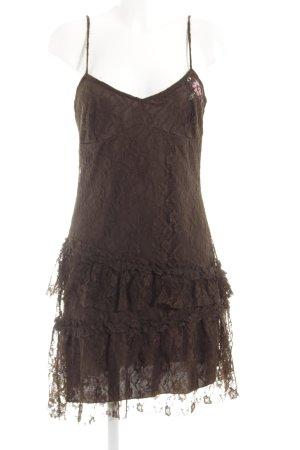 MNG Trägerkleid dunkelbraun Elegant
