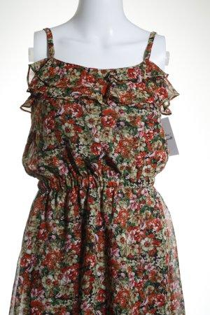 MNG Vestido tipo overol estampado floral estilo gitano