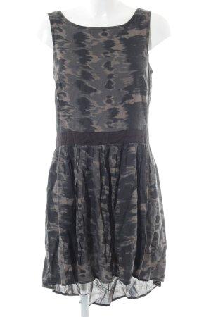 MNG Trägerkleid graubraun-schwarz abstraktes Muster Beach-Look