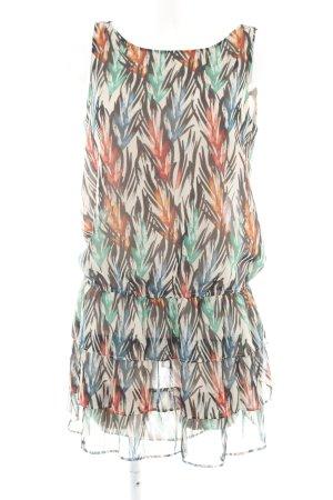 MNG Vestido estilo flounce estampado repetido sobre toda la superficie elegante