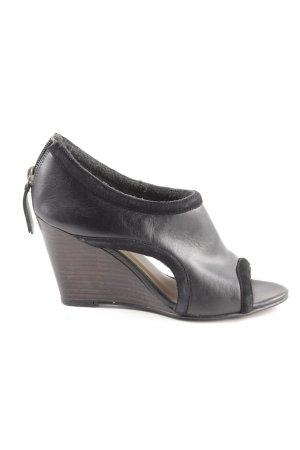 MNG Wedges Sandaletten schwarz Elegant
