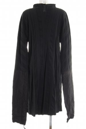 Mo Koshji Hemdblusenkleid schwarz extravaganter Stil