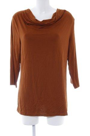 Mocca Italy Longshirt cognac Boho-Look