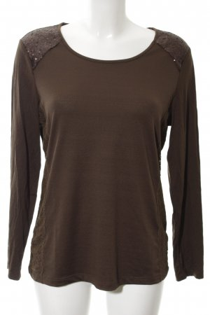 Mocca Italy Boothalsshirt bruin casual uitstraling