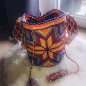 Mochila Wayuu orange blau pink gelb neu XL