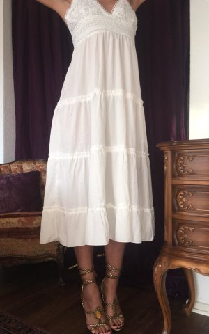 Beach Dress white-natural white viscose