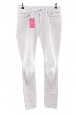 MOD Peg Top Trousers white casual look