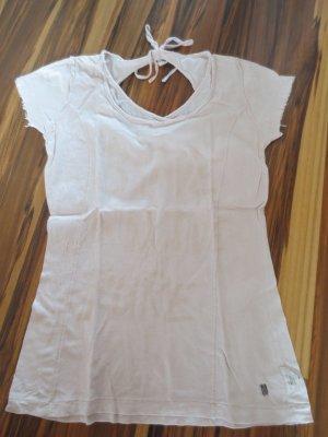 MOD, Shirt in beige/rosa, Gr. 36, neuwertig, Rückenfrei