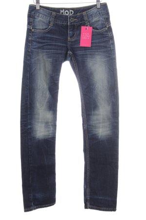MOD Slim Jeans neonblau Casual-Look